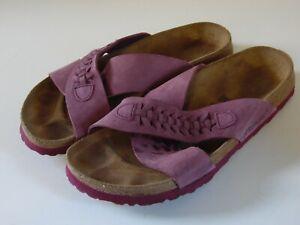 Papillio Birkenstock Crossed Straps Plum Sandals 41 US 10-10.5 Shoes Slides
