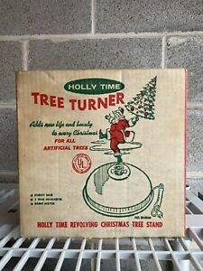 Holly Time Christmas Tree Turner Revolving Christmas Tree Stand Glitter B-20 NEW