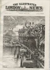 1887 NAVAL MANOEUVRES AT PORTSMOUTH ARMOUR CLAD TRAIN BRIDGE MINE