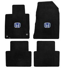 NEW! 2010-2015 Black Floor Mats Honda Accord Crosstour Blue H Embroidered Logo