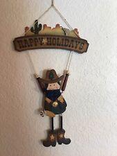 Happy Holidays Christmas Cowboy Western Decor