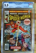 MARVEL SPOTLIGHT #32 ORIGIN & 1ST APP SPIDER-WOMAN CGC 5.5 WHITE PAGES Bronze