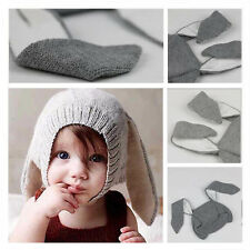 Kids Fashion Fall Winter Knit Beanie Hat Baby Long Ear Rabbit Headgear Cap Hot