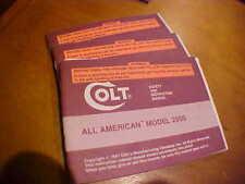 Colt all american model 2000 ORIGINAL Factory OWNERS Manual 1991 rev may 92
