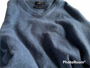 🌺F&F Tesco Mens Blue Cashmere Jumper Size Small🌺