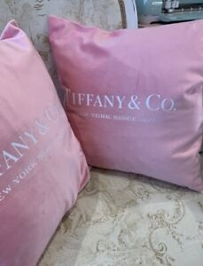 Designer Inspired Pink Cushion Cover With White Writing