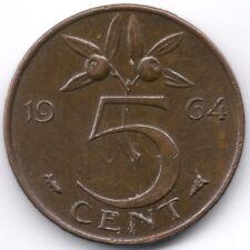 Netherlands : 5 Cents 1964
