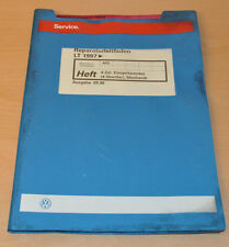 VW LT 1997 4 Zylinder Einspritzmotor AGL Werkstatthandbuch Reparaturleitfaden