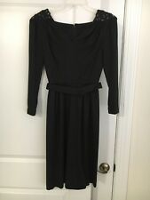 NWOT-LILLI DIAMOND Vtg 60's Black Cocktail Dress Hand Beaded Exquisite Size 6
