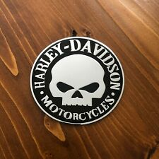 "New - Harley-Davidson™ Chrome Motorcycles Emblem Sticker Badge Logo 3.5"" 90mm HD"