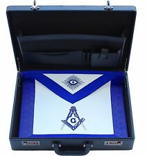 FREEMASON MASONIC REGALIA APRON HARD CASE BRIEFCASE