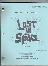 """LOST IN SPACE Show Script """"The War Of The Robots"""""""