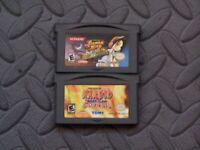 Lot Nintendo Game Boy Advance GBA Games Shaman King Master Spirits + NarutoNinja