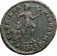 VALENS with CHRISTIAN Chi-Rho Labarum Ancient 364AD Genuine Roman Coin i80202