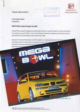 SEAT Ibiza Cupra R Mk2 (Facelift) Launch Press Release/Photograph - 2001