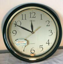 SEIKO Quartz Wall Clock Home/Office/Classroom Decor Green Vintage Brand New