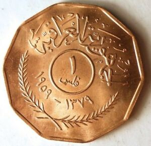 1959 IRAQ FIL - AU/UNC RED - Great Historic Coin - MIDDLE EAST BIN #1/4