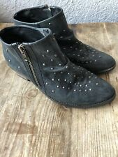 ECOTE BOOTIES LEATHER & STUDS SZ 8 BAD A$$!