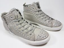 Guess grey studded leather hi top trainers uk 3 eu 36