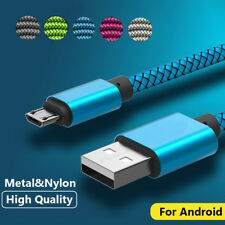 10FT Fast Charging Braided Micro USB Data Charger Cable For Android Samsung LG