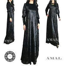 ❤️AMAL Muslim Velvet Dress Maxi Islamic Dress Long Sleeves Hijab USA