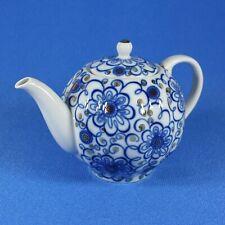 Teapot, Lomonosov Porcelain, Convolvulus, IFZ, Russia