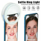 Selfie Portable LED Ring Light Flash For Apple iPhone Sumsung HTC Phone Light US