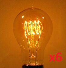 6-Pack LUMIN 30W A19 Edison Victorian Loop Filament Antique Light Bulb 120V/240V