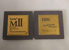 IBM6x86MX PR300 + Cyrix MII-233GP 66MHz Vintage GOLD CPU COLLECTIBLE!