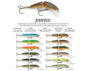 Rapala Jointed // J09 // 9cm 7g Fishing Lures (Choice of Colors)