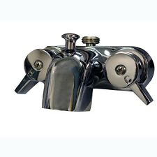 2-Handle Claw Foot Tub Faucet Polished Chrome Antique Bath Tub Faucet Wall Mount