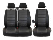 VW Transporter T5 Movano Passform Auto Sitzbezüge Schwarz-Grau Maß Kunstleder