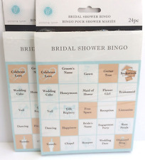 Bridal Shower Party Games - Bingo Cards for 48 Guests - 2 Pack - Easy to Play
