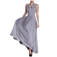 Women  V Neck Formal Bridesmaid Cocktail Evening PromGown Long Dresses