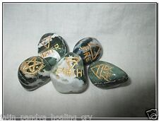 Jet New Tree Agate 5 Element Tumbled Stones Thick Genuine Earth Wiccan Pagan