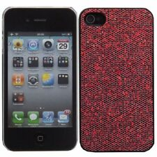 Red Plastic Sparkly Glitter Bling Case for Apple iPhone 4