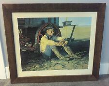 vintage western art GORDON SNIDOW CHUCKWAGON COORS PRINT 1982