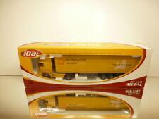 JOAL DAF XF 430 TRUCK + TRAILER VAN GEND & LOOS - YELLOW 1:50 - EXCELLENT IN BOX