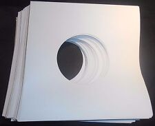 "Package of 50, 45 rpm 7"" Record Sleeves 20# White Paper.  100% acid-free."