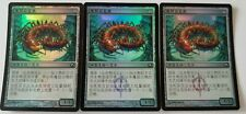 3 FOIL Chinese Necropede Scars of Mirrodin MTG Magic the Gathering NEW