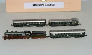 Z Scale Marklin 4-6-2 K.BAY.STS.B Steam Loco & 3 Passenger Cars out of set 81781