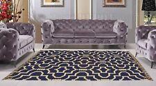 Modern Bohemian Style Turkish Area Rug Kilim Runner Color Blue Grey