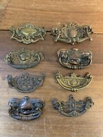 3 Antique Drawer Handles , Bureau , Chest , Dresser  , Architectural Salvage
