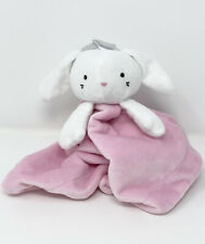 First Impressions Pink White Bunny Rabbit Security Blanket Lovey Princess Crown