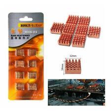 8Pcs Copper Graphics Video Cards VRAM CPU Cooling Cooler Chip Heat Sink Radiator