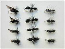 Dry Trout Fishing Flies, 12 Pack, Alder, Griffiths Gnat, Traditional Ant, 14/16