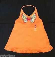 NWT Gymboree TROPICAL PARADISE Girls Orange Butterfly Halter Top Sz 8 Summer