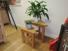 VANCOUVER OAK NEST OF 2 TABLES VERY SOLID AND STURDY SAL026