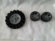 """Knex Wheels 1 Large 3.5"""" 2 Small Slick replacement tires"""