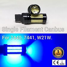 Rear Turn Signal Lights T20 7440 W21W WY21W 992 108 SMD Blue LED Bulb M1 I M
